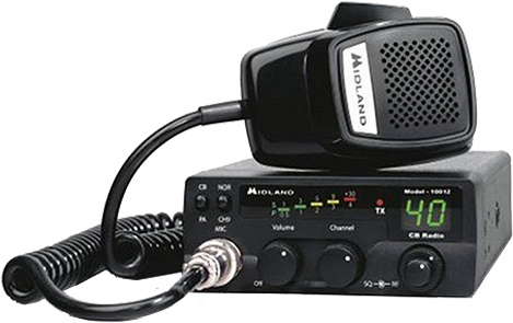 Picture of a newer CB Radio transceiver
