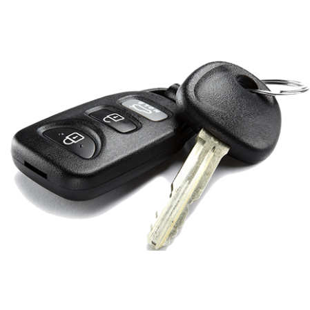 Picture of a car key with remote control
