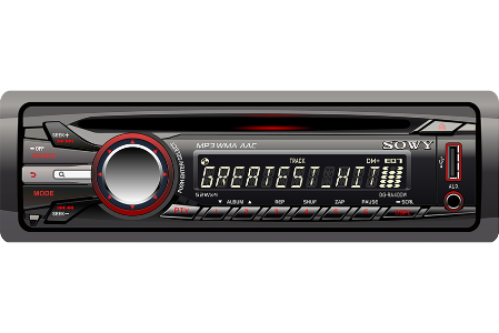 Picture of a modern car radio