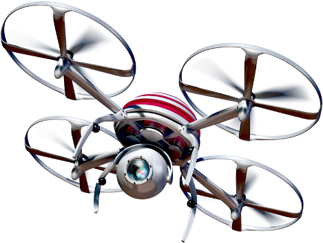 Picture of a quadcopter drone