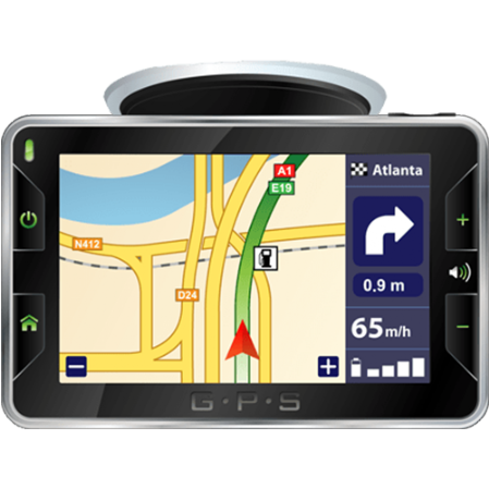 Picture of a GPS display unit