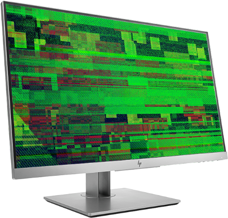 Monitor with faulty graphics
