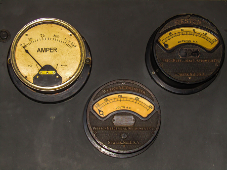 Picture of the old volt and ampmeters