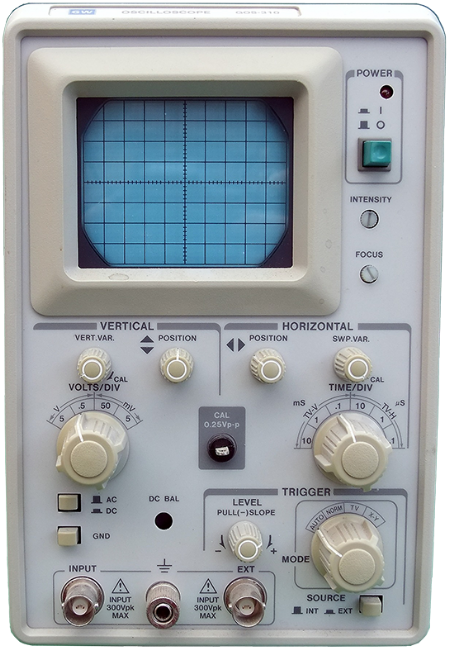 Picture of an old vacuum tube oscilloscope