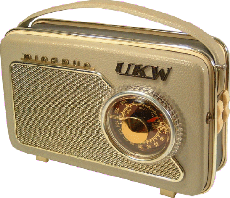 Picture of old Minerva transistor radio