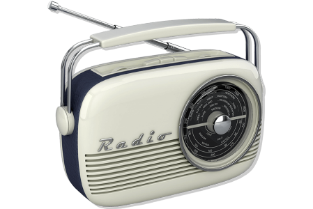 Picture of an older style transistor radio