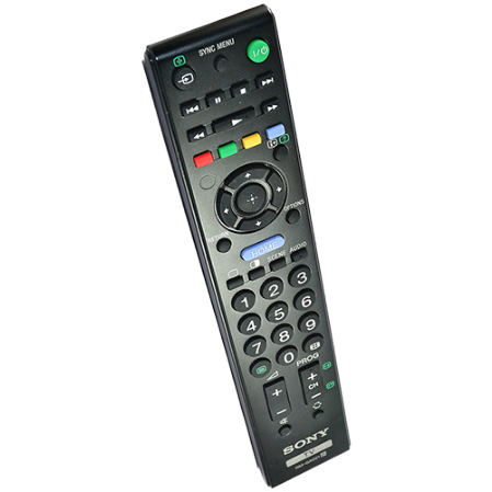 Picture of a SONY TV remote control