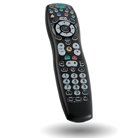 Picture of a generic TV remote control